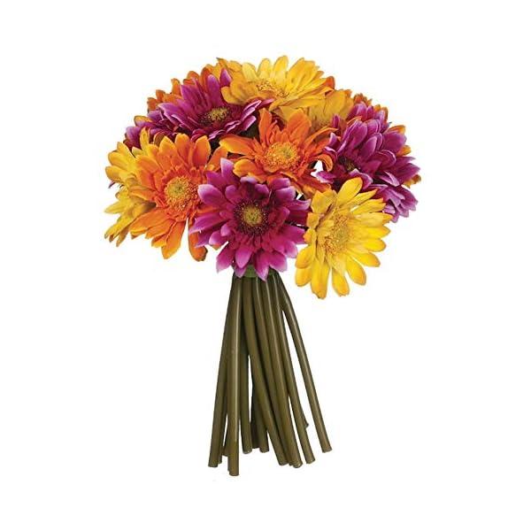 Sullivans Multicolored Gerbera Daisy Bouquet Polyester Artificial Flowers