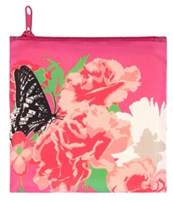 LOQI Prima Carnation Reusable Shopping Bag, Multicolor