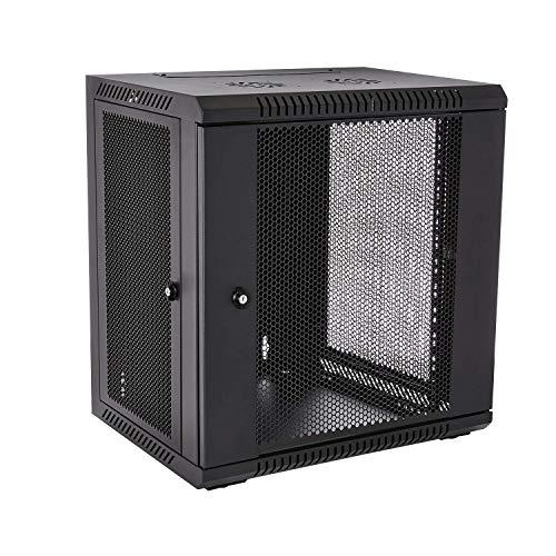 V7 RMWC12UV450-1N Rack Mount Wall Cabinet Enclosure 12U Vented (Renewed)