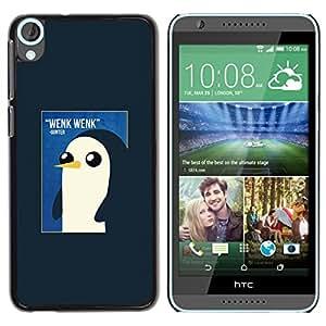 Pingüino lindo de la acuarela de los rosas bebés- Metal de aluminio y de plástico duro Caja del teléfono - Negro - HTC Desire 820