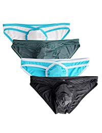 Nightaste Men Lightweight Sport Comfort Underwear Micro Mesh Low Rise Bikinis Briefs