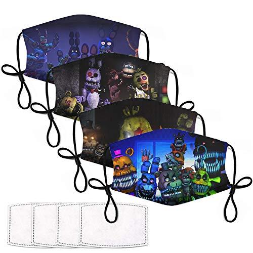 Five Nights At Freddy's Mask Toys Gift for Fnaf Fans Adjustable Freddy Face Mask for Kids Man Women