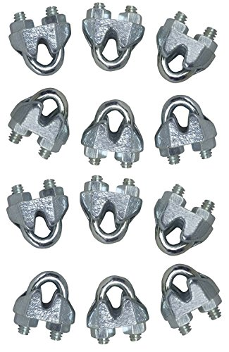 Guy Wire Clamp - Lot of 12 High Quality 1/8