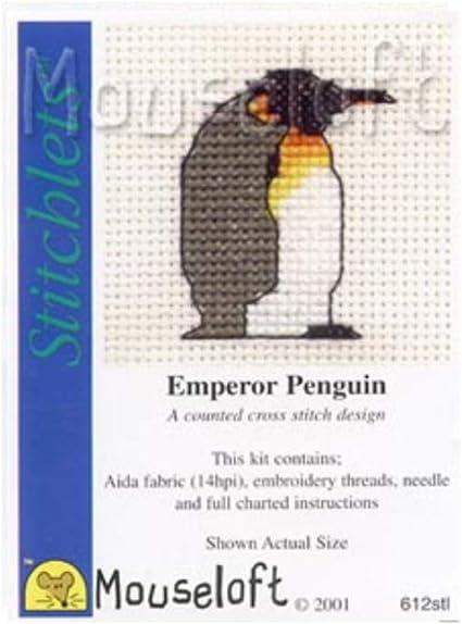 Emperor Penguin Stitchlets Collection Mouseloft Mini Cross Stitch Kit