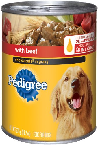 Pedigree Choice Cuts in Gravy with Beef Food for Dogs, 13.2-Ounce Cans (Pack of 24), My Pet Supplies