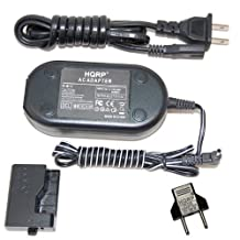 HQRP Kit AC Power Adapter and DC Coupler compatible with Canon ACK-E10 ACKE10 fits EOS Rebel T3, 1100D, Kiss X50 Digital Camera plus HQRP Euro Plug Adapter