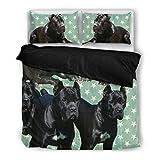 Amazing Cane Corso Print Bedding Set - Dog Lovers Gifts - Custom Cover Print Design Pillow Cases & Duvet Blanket Cover - Pet Gift Ideas