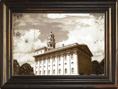 Amazon.com: LDS Nauvoo Temple 24x18 Single Frame - Framed Legacy Art ...