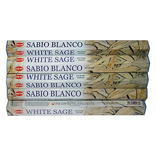 - Hem White Sage 100 Incense Sticks (5  packs of 20 sticks)