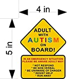 ADULT WITH AUTISM ON BOARD car & truck vehicle decals/stickers