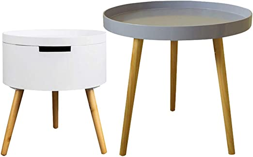 Amazon Com Bedside Table With Storage Space Sofa Side Table Wood
