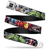 Marvel Avengers 4-superhero Poses Close-up Seatbelt Belt