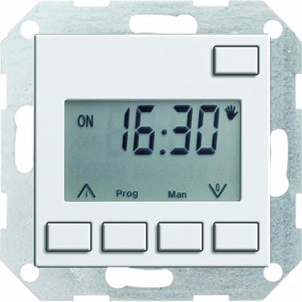 Gira 117503 Easy System 55 - Reloj digital empotrado, color blanco