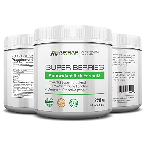 AMRAP Nutrition - Super Berries - All Natural Organic Super Berry Juice Blend - Antioxidant Rich Formula - Supports Immune System - Reduces Oxidative Stress from Workouts Discount