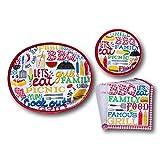 Backyard BBQ Picnic Summer Paper Plates and Napkins Party Supply Bundle - Picnic Tableware Set Includes - BBQ Dinner Plates - Dessert Plates and Napkins