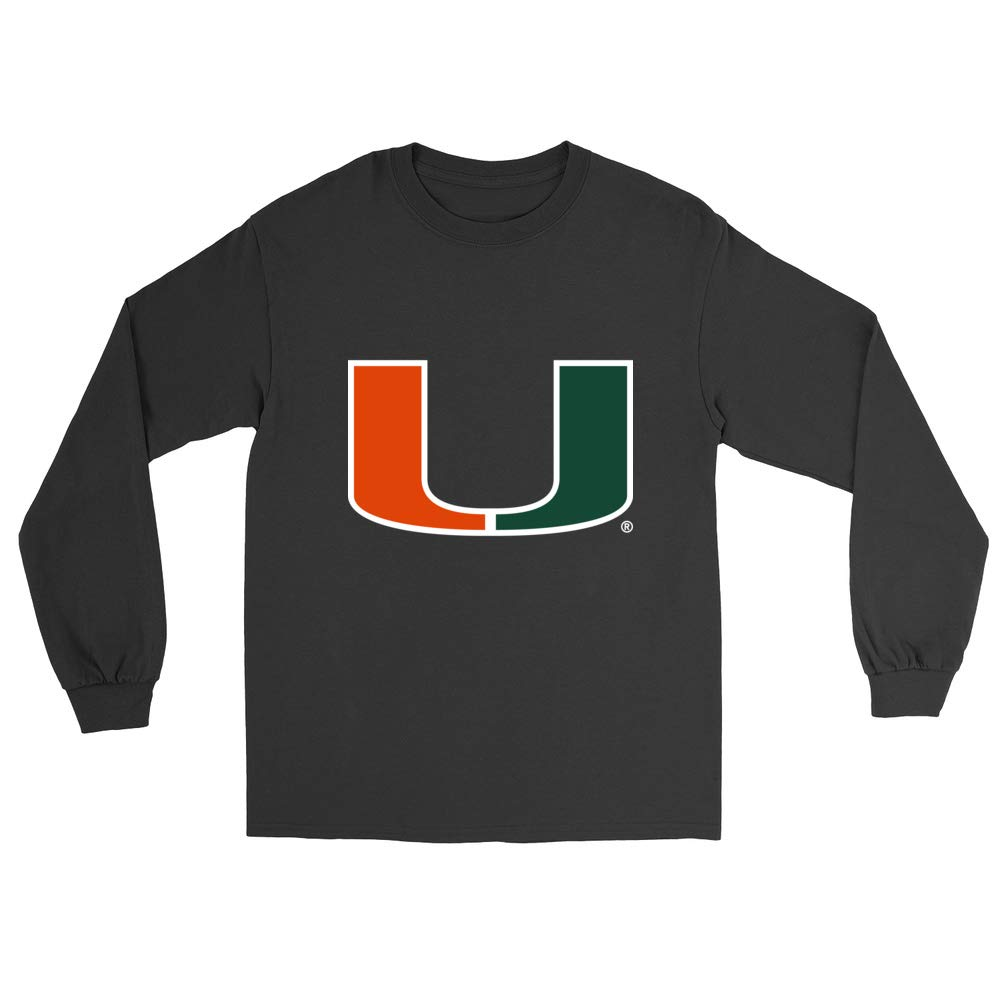 RYLMIA06 Mens//Womens Boyfriend Long Sleeve Tee Official NCAA University of Miami Hurricanes