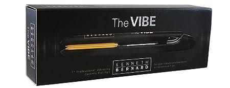 Kenneth Bernard Vibe Flat Iron – 1 Inch Professional Vibrating Ceramic Hair Straightener with Digital Heat Control