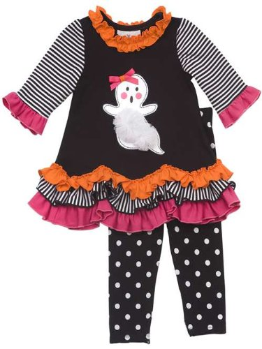 Rare Editions Girls Halloween Ghost Dress Outfit Set