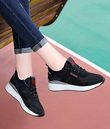 De Tamaño Deportivos 2018 Nuevos Casuales Verano Zapatos Mujeres Deporte 38 Negro Las Zapatillas Estudiantes color dwxBgUqd
