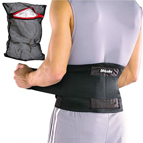 Mueller Adjustable Back Brace Support Belt Black (Brace Back Mueller)
