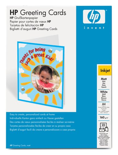 Hp matte greeting card 20 cardsa4210 x 297 mm greeting cards hp matte greeting card 20 cardsa4210 x 297 mm greeting cards amazon office products m4hsunfo