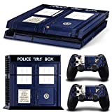 CAN Ps4 Console Designer Protective Vinyl Skin Decal Cover for Sony Playstation 4 & Remote Dualshock 4 Wireless Controller Stickers - Doctor Who from CAN