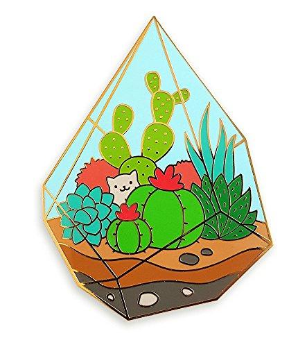 Pinsanity Succulent Terrarium Enamel Lapel Pin