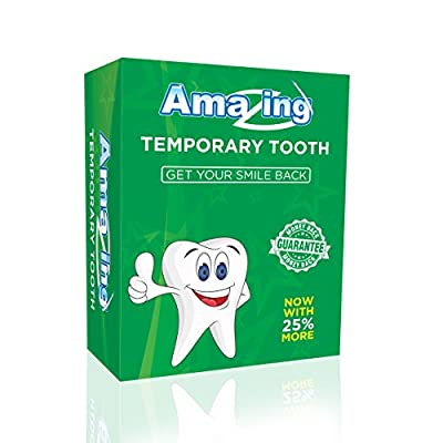 Amazing Temporary Missing Tooth Kit Complete Replacement Tooth Repair Kit Temp Dental Makeover DIY with 25% More
