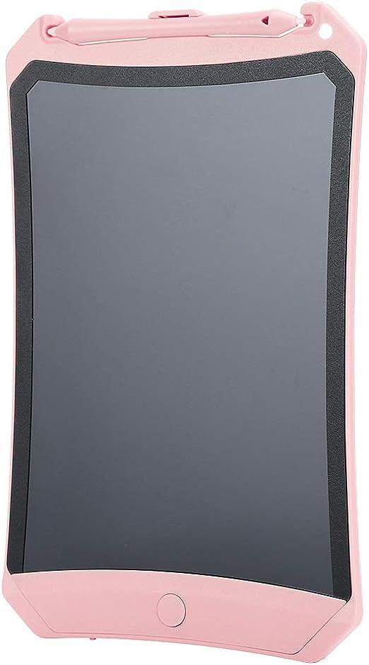 描画ボード、LCDライティングボード、LCD描画ボードライティングボード書道練習算数消しゴム描画ギフト子供向け/家族向け(Pink)