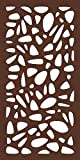 MODINEX Decorative Screen Panel - PEBBLES Design - 2' x 4' Size - Espresso - 80% Privacy
