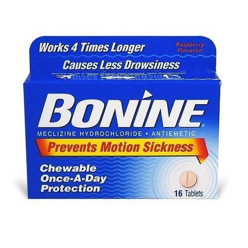 Bonine Motion Sickness Tablets, 16 tablets Box (Pack of 12)
