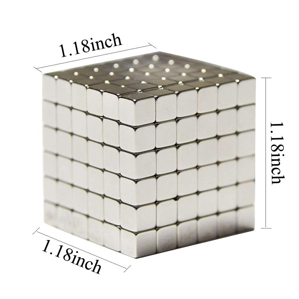 Magic Square Educational Puzzle for Kids Intelligence Development Stress Relief for Adults-Silver RAINBEAN Magnetic Cube 216pcs 5mm Magnet Cube Puzzle Sculpture Building Blocks Toys Buckyballs