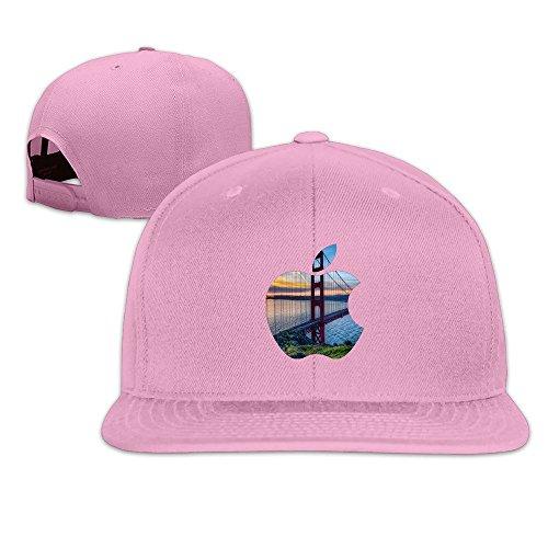 Custom Unisex-Adult San Francisco California Apple Flat Billed Baseball Cap Hats - Drake Pink Sunglasses