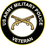 """3.8"""" US Army Military Police Veteran Decal Sticker"""