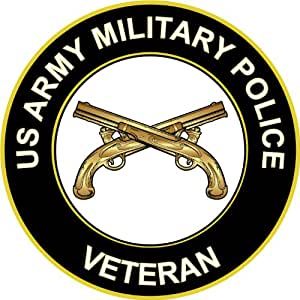 "3.8"" US Army Military Police Veteran Decal Sticker"