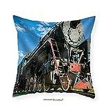 VROSELV Custom Cotton Linen Pillowcase Old Steam - Fabric Home Decor 26''x26''