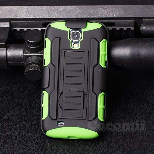 Cocomii Robot Armor Galaxy S4 Case New [Heavy Duty] Premium Belt Clip Holster Kickstand Shockproof Hard Bumper [Military Defender] Full Body Dual Layer Rugged Cover for Samsung Galaxy S4 (R.Green)