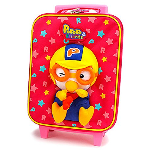 Pororo Little Kid Luggage Carry-on Hand Luggage (Pink) by Pororo