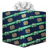 NCAA Notre Dame Fighting Irish Logo Gift Wrap Paper - Navy Blue
