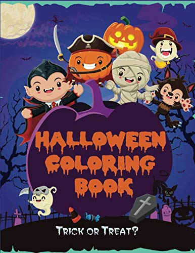 Halloween Activity Pages Preschool (Halloween Coloring Book: Kids Halloween Book, Fun for All Ages (Kids Coloring)