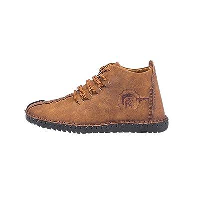 Hombre Botas Cabeza Redonda Senderismo Deportes Trekking Zapatos Color  Sólido Sneakers Elegante Retro Zapatos con Cordones Tamaño Grande Zapatos  Planos 3 ... aed5b84c2767b