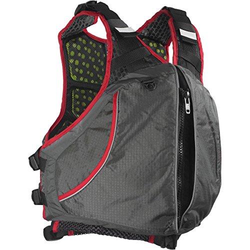 Extrasport Men's Evolve Life Jacket, Gray/Charcoal/Red, Small/Medium