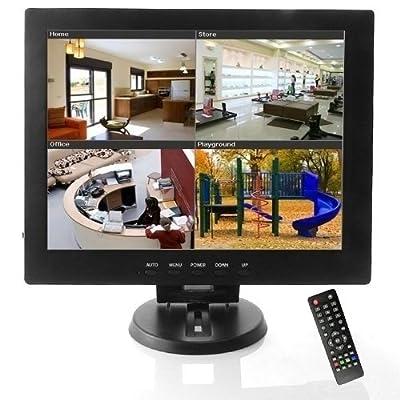 BONDWL 12 inch CCTV Camera TFT LCD Video Monitor Surveillance Monitor Security Camera Monitor with AV HDMI BNC VGA Input for PC CCTV Home Security -Stand & Rotating Screen from BONDWL
