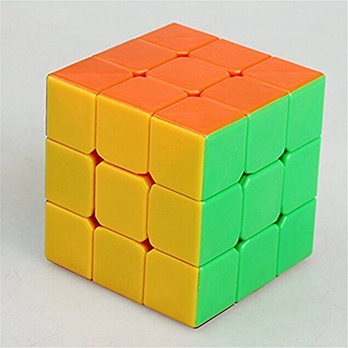 Qiyun 3x3x3 Speed Cube Anti-POP Structure 6 Solid Color Eco-friendly Plastics Stickerless Cube (New - Womens Express Gear Throw
