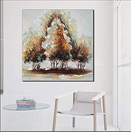 Amazon Com Qsby Abstract Hand Painted Oil Painting Trees In A