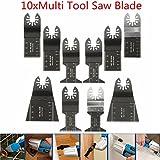 Pukido 10pcs Multitool Saw Blade Accessories For Dewalt Stanley Black and Decker Bosch Multitool