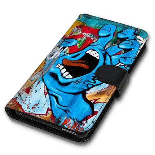 Wallet Book Style Flip Handy Tasche Case Schutz Hülle Schale Motiv Etui für Apple iPhone 4 / 4S - Design Flip MV98