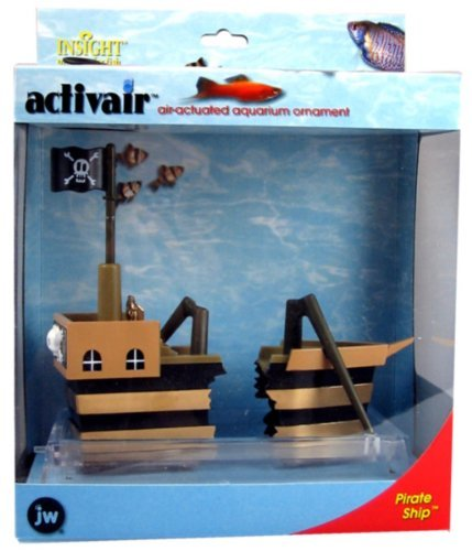 JW Pet Company ActivAir Pirate Ship Aquarium Ornament by JW - Aquarium Activair