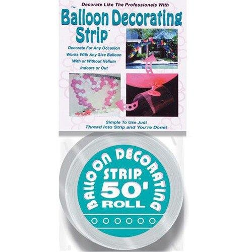 50' Balloon Deco Strip-Clear