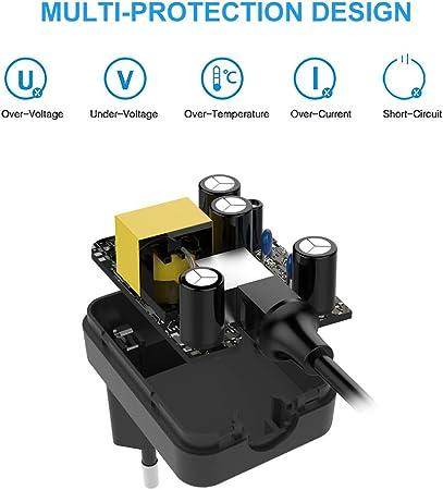 BERLS 15V 0.36A 5.4W Adaptador de Corriente Cargador Afeitadora para Philips Series 5000 3000 7000 BT5206 HQ7300 9000 Maquina de Afeitar PT860/1 HQ8 HQ9 Norelco HQ8505 3100 HQ8445 Cool Skin Quadra